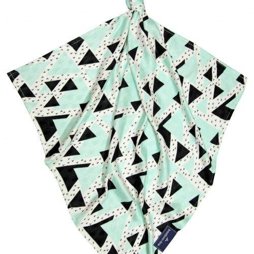 pieluszka bam trójkąty mięta (krople)